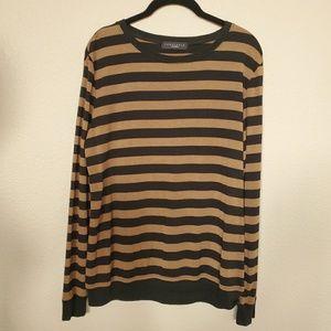 SANCTUARY Caramel and Black Stripe Long Sleeve